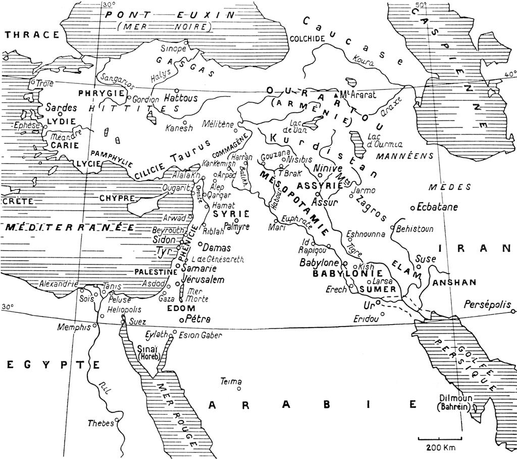 Proche Orient Ancien Carte Proche et Moyen Orient Ancien